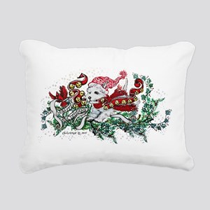 Westie White Christmas Rectangular Canvas Pillow